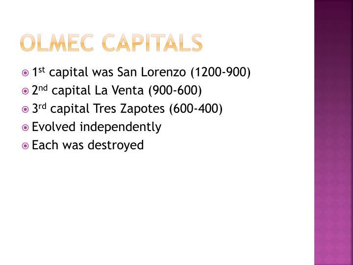 Olmec capitals