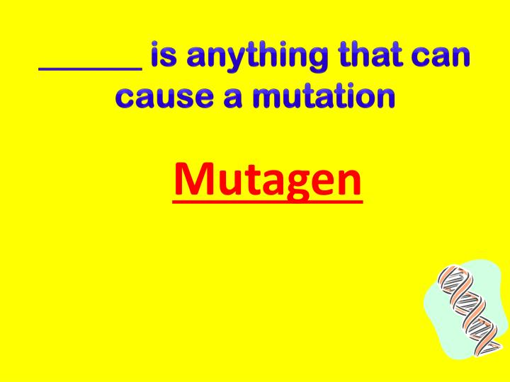 ______ is anything that can cause a mutation
