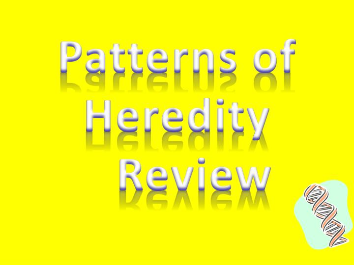 Patterns of heredity review