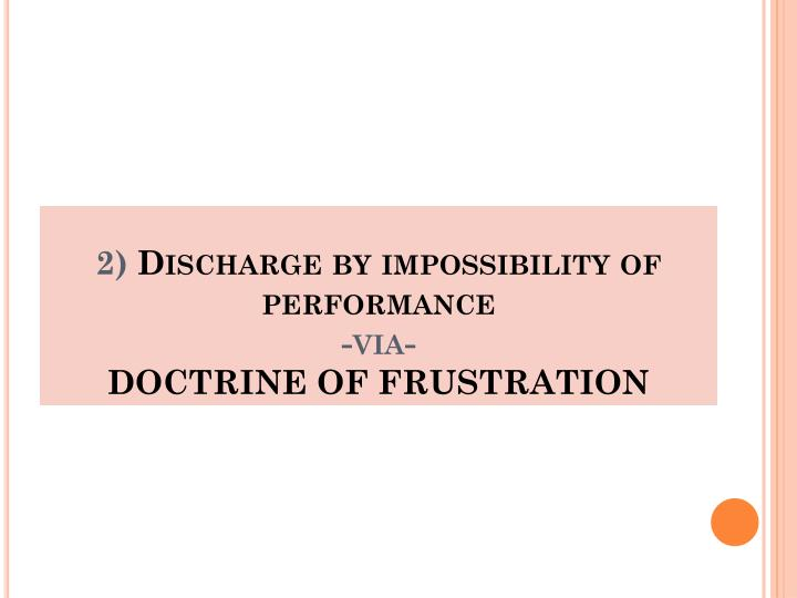 Grounds for Contract Termination: Impossibility of Performance