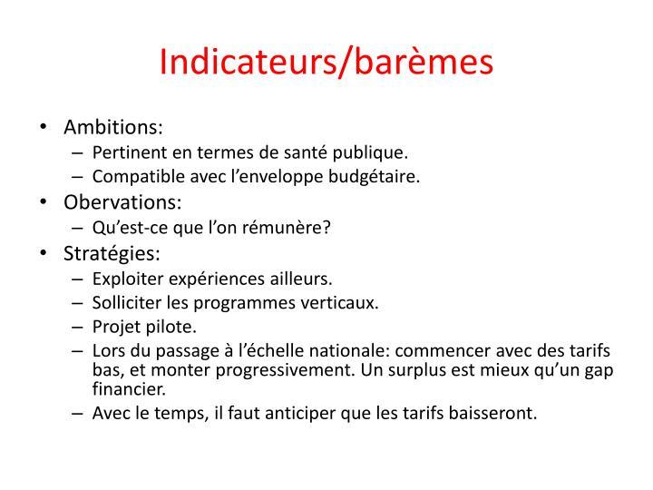 Indicateurs/