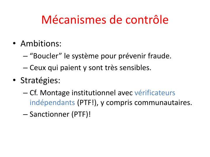 Mécanismes