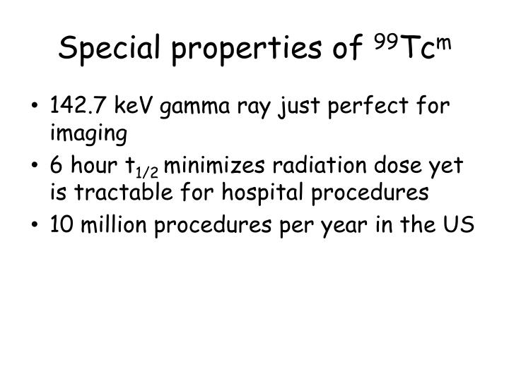 Special properties of