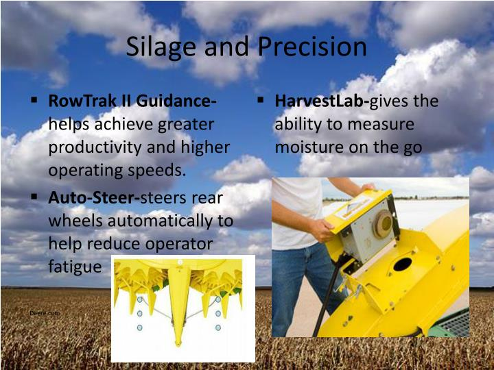 Silage and Precision
