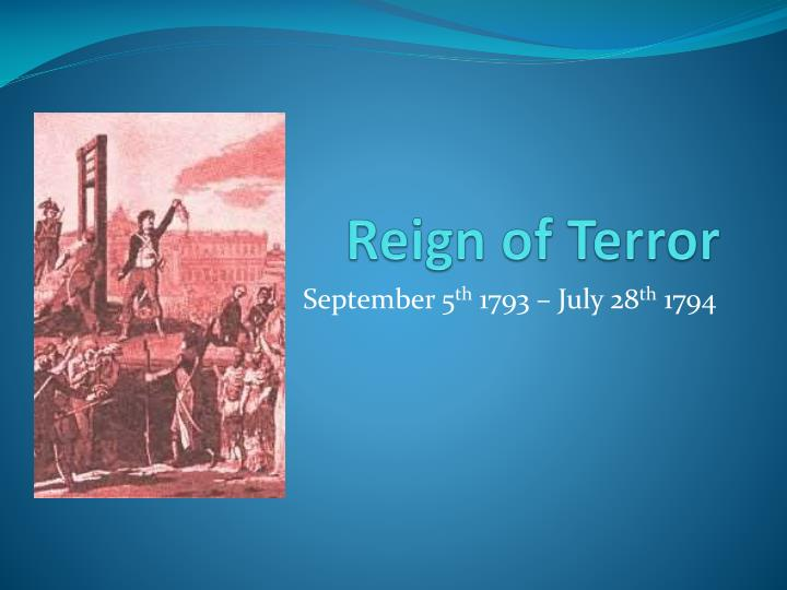 essay on the reign of terror
