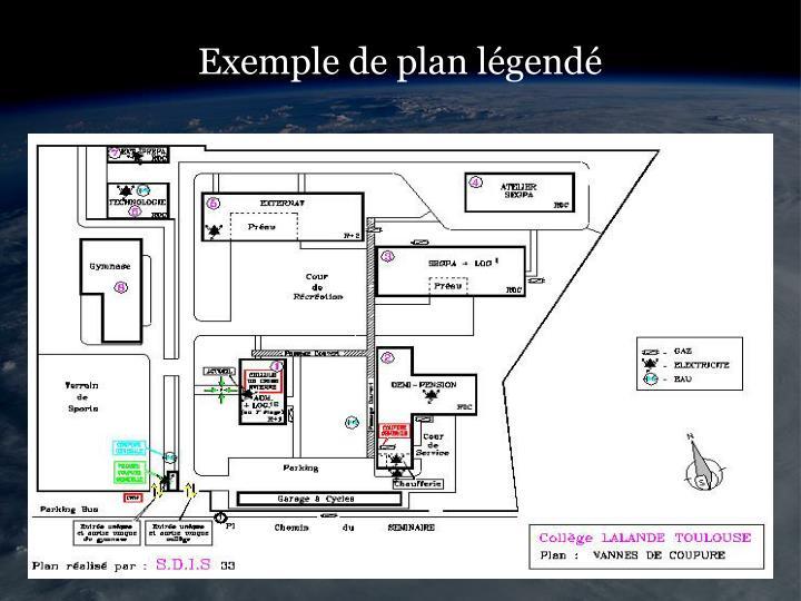 Exemple de plan légendé