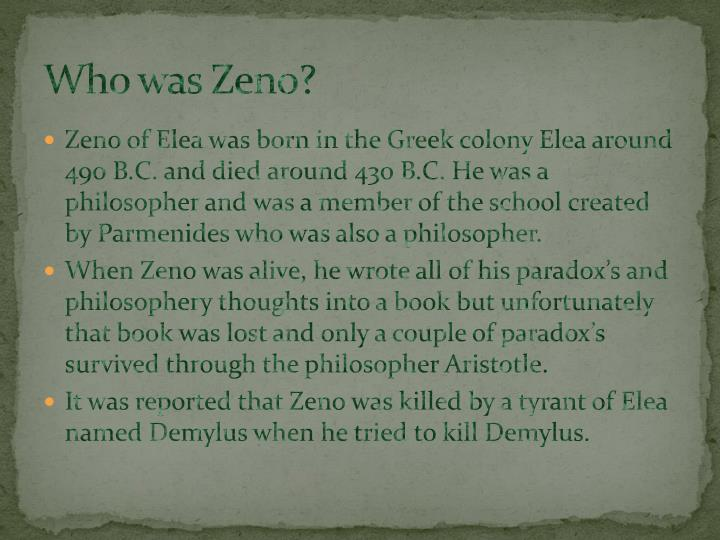 Who was Zeno?
