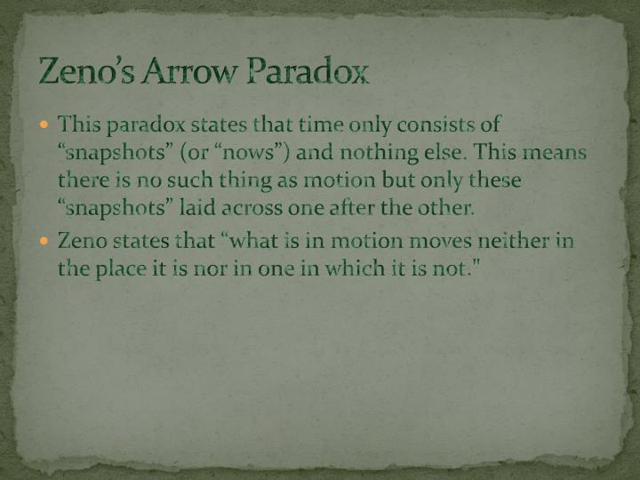 Zeno's Arrow Paradox