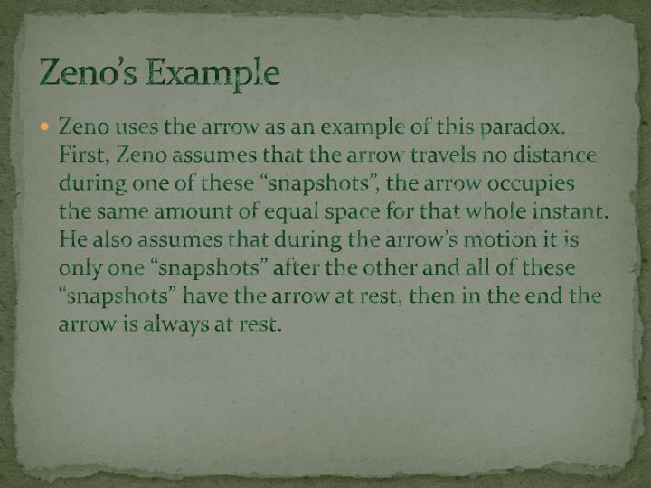Zeno's Example