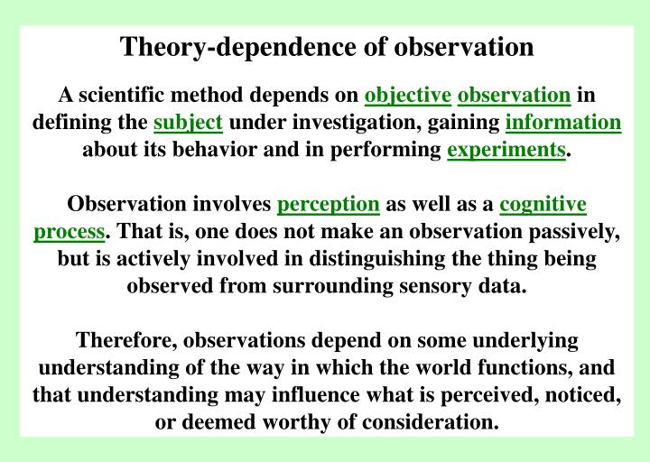 Theory-dependence of observation