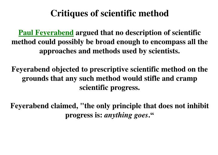 Critiques of scientific method