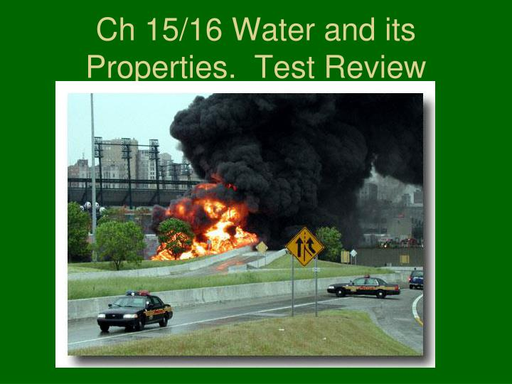 Ch 15 16 water and its properties test review
