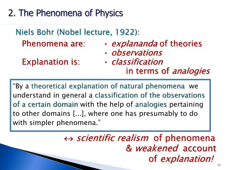 2. The Phenomena of Physics
