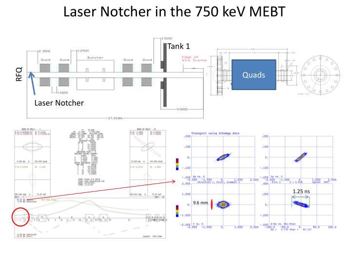 Laser Notcher in the 750 keV MEBT