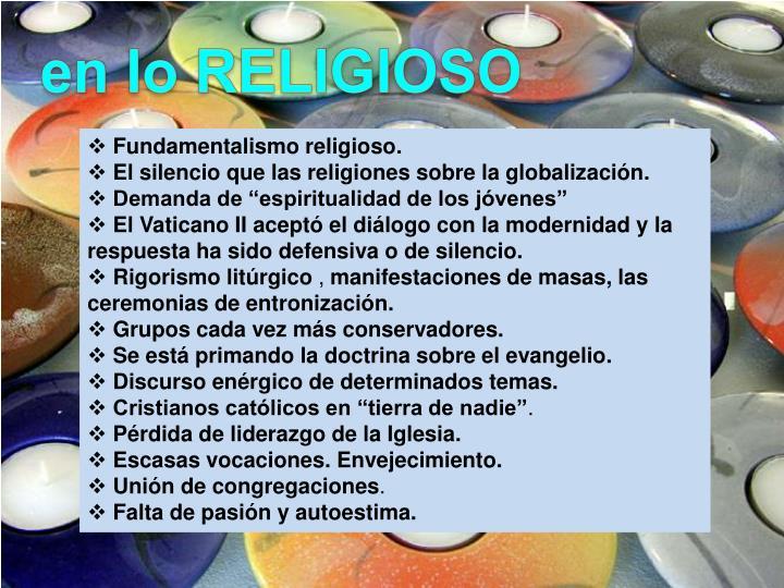 en lo RELIGIOSO