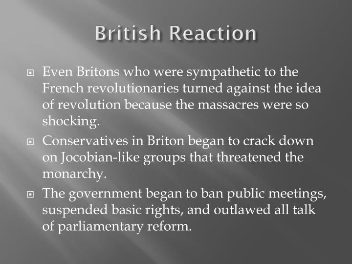 British Reaction