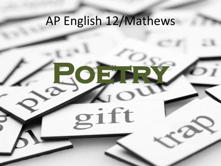 Ap english 12 mathews
