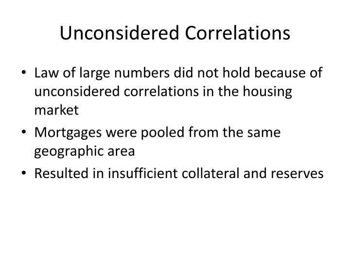 Unconsidered Correlations