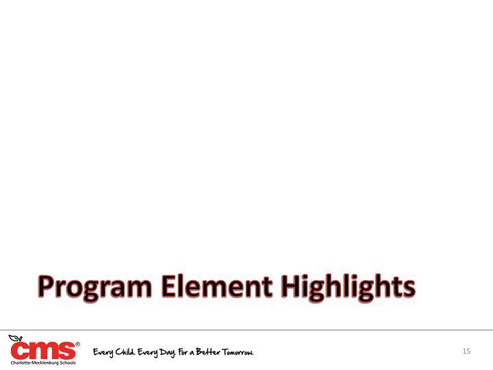 Program Element