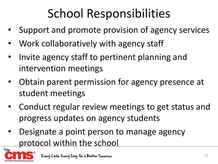 School Responsibilities