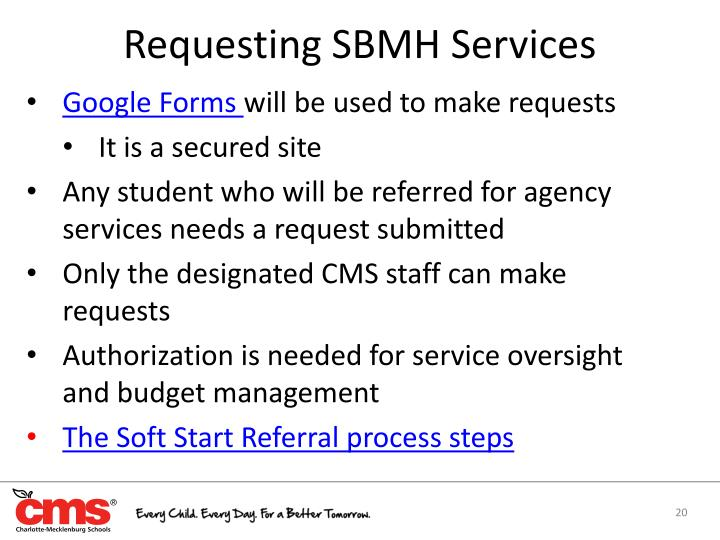 Requesting SBMH Services