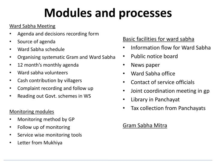 Modules and processes