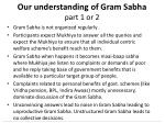 our understanding of gram sabha part 1 or 2