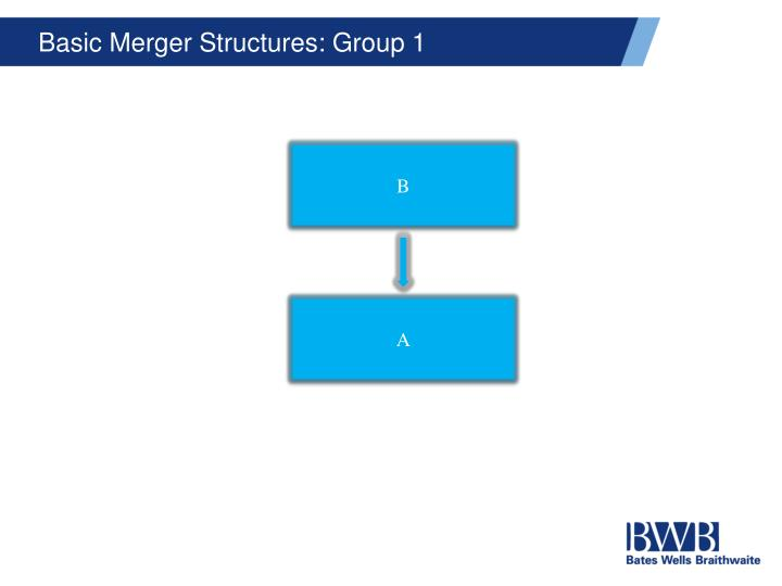 Basic Merger Structures: Group 1