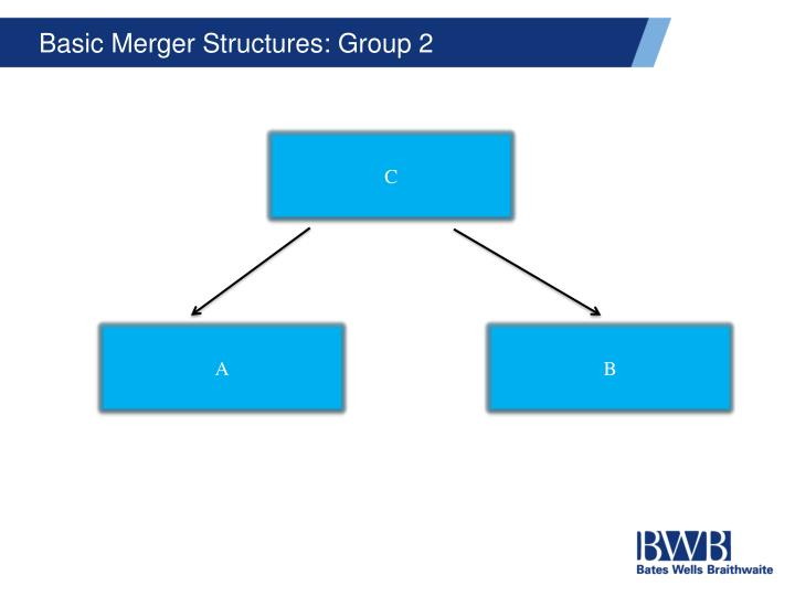 Basic Merger Structures: Group 2