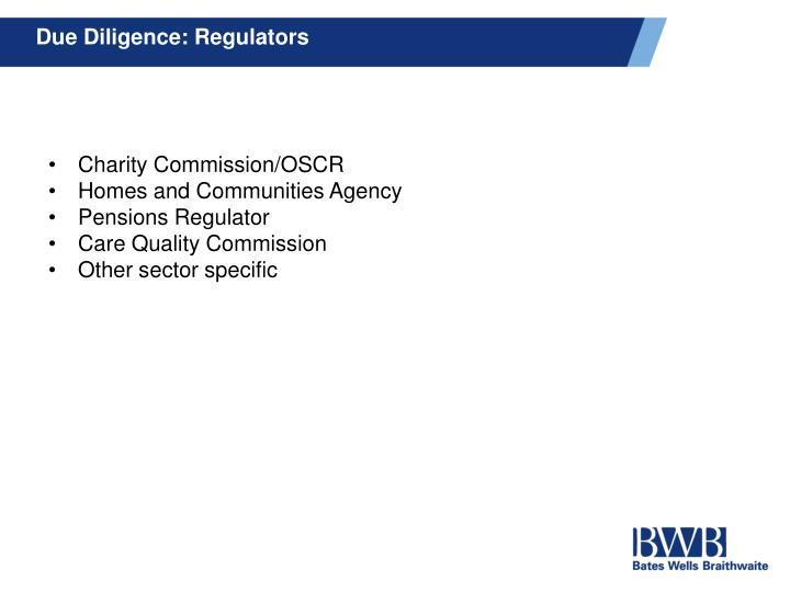 Due Diligence: Regulators