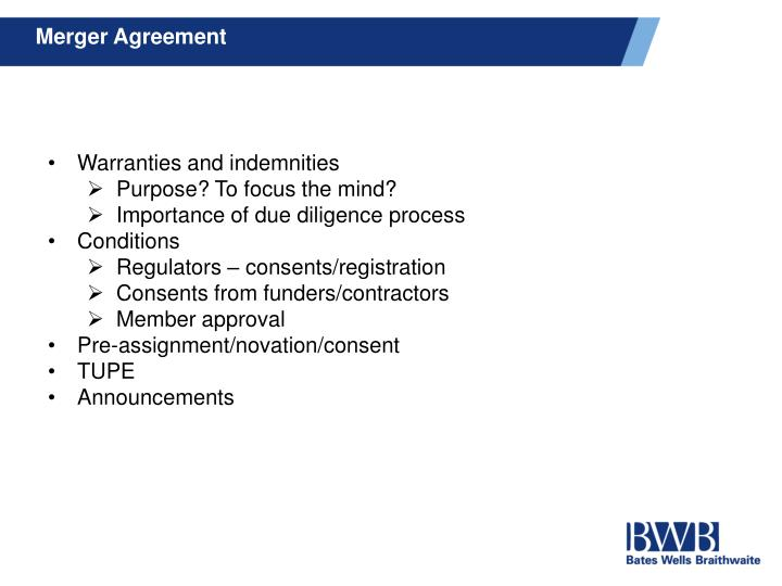 Merger Agreement