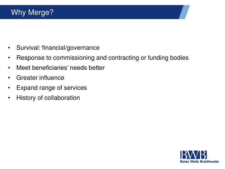Why Merge?