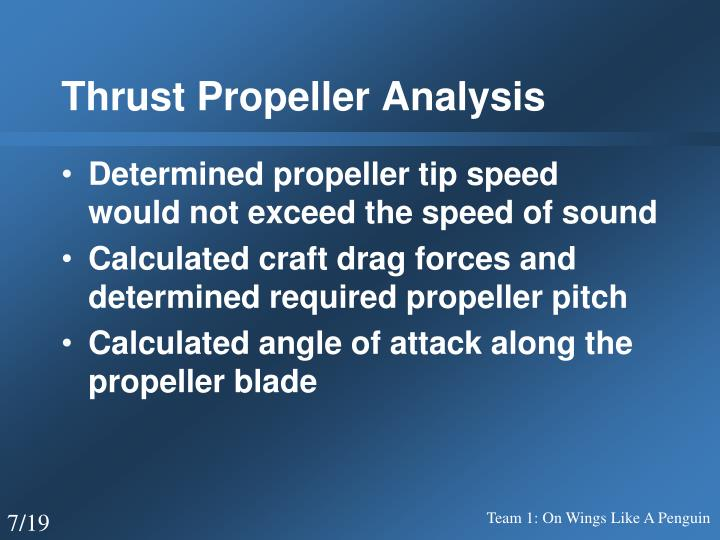 Thrust Propeller Analysis