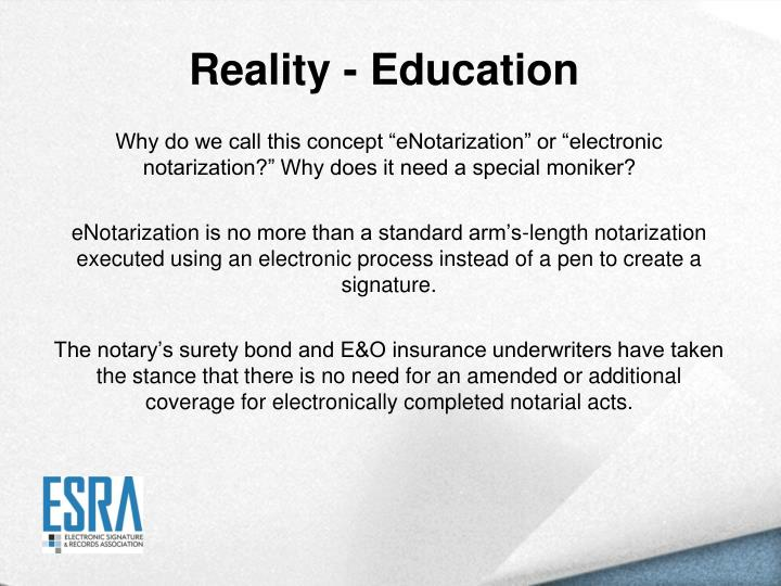 Reality - Education