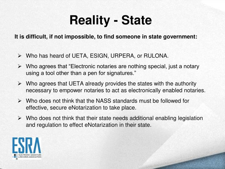Reality - State