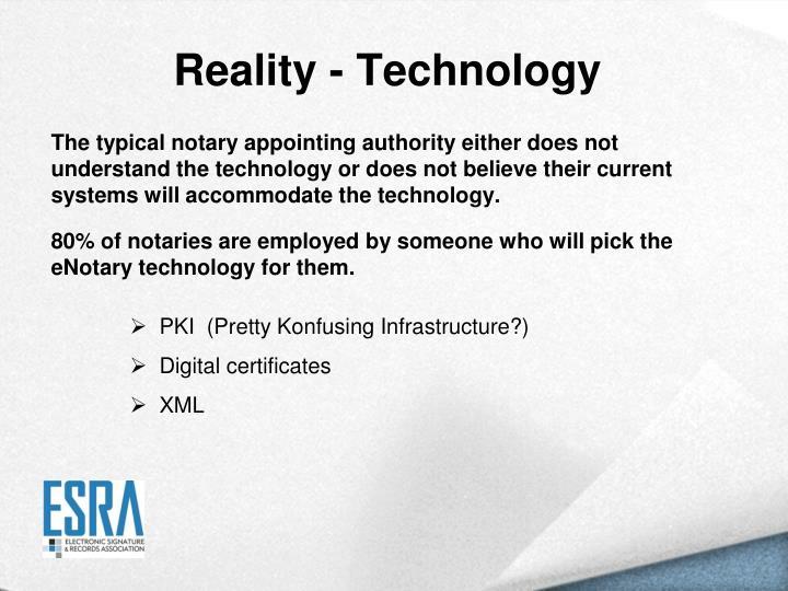 Reality - Technology