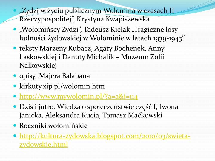 ydzi w yciu publicznym Woomina w czasach II Rzeczypospolitej, Krystyna Kwapiszewska
