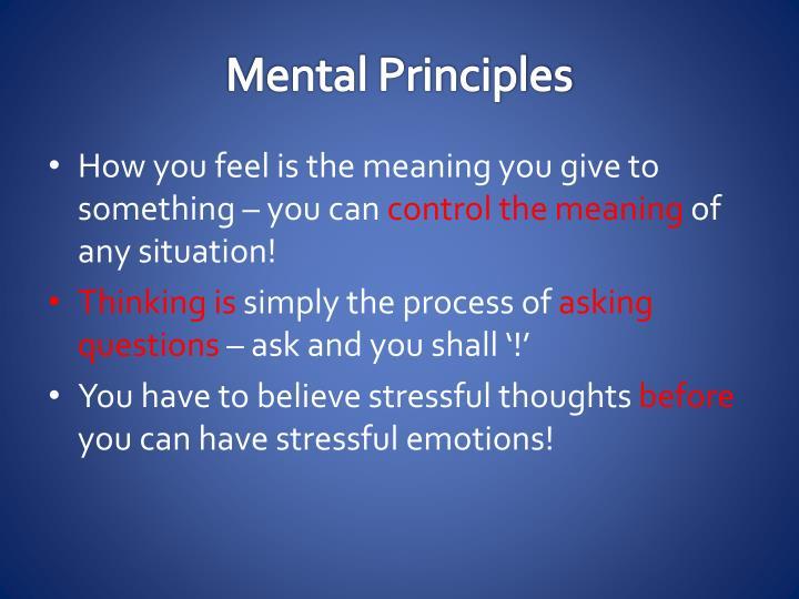 Mental Principles
