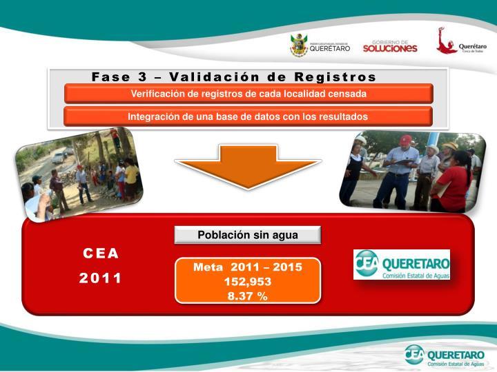 Fase 3 – Validación de Registros