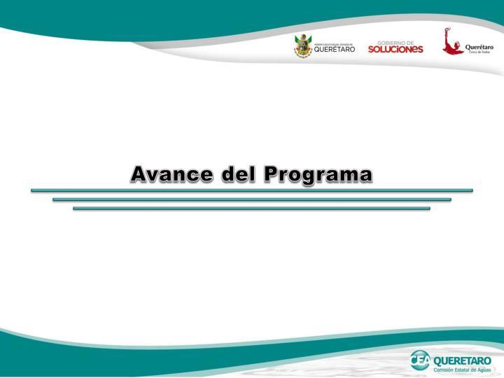 Avance del Programa