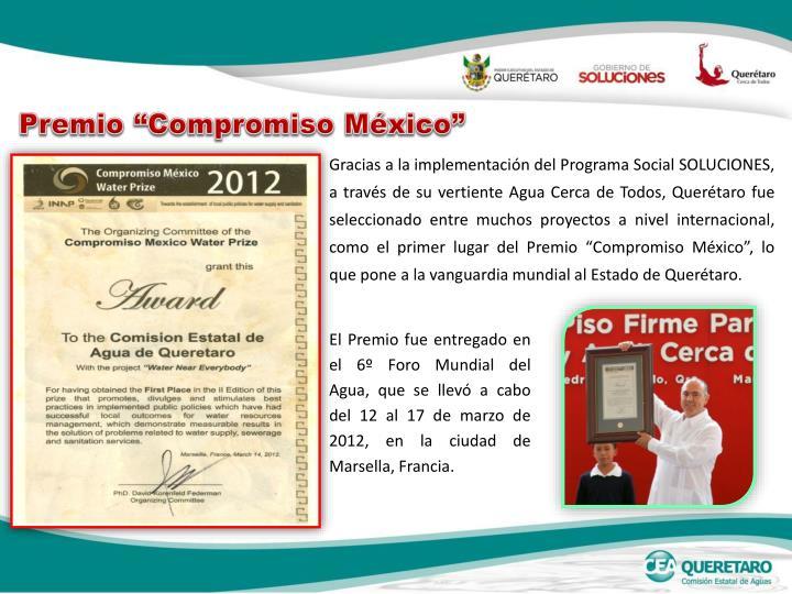 """Premio """"Compromiso México"""""""