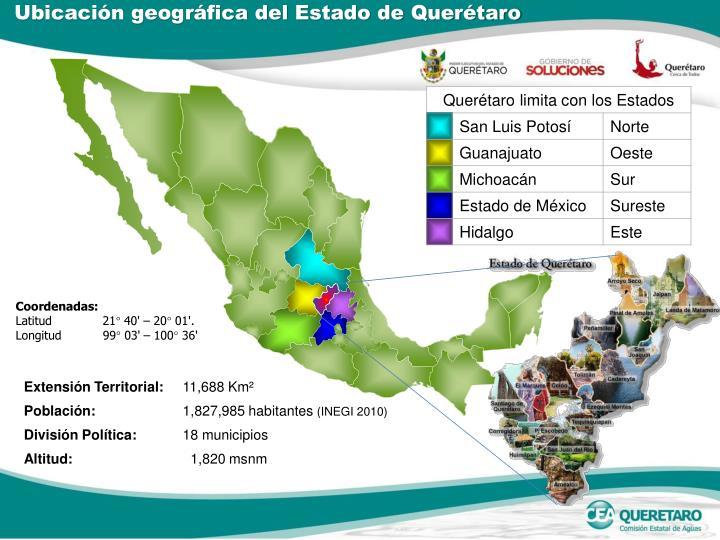 Ubicación geográfica del Estado de