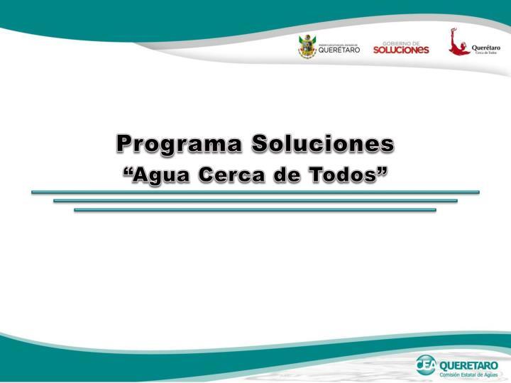Programa Soluciones