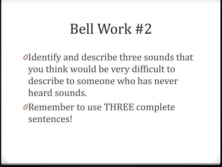 Bell Work #2