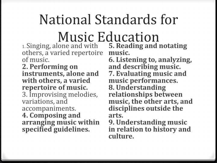 National Standards for