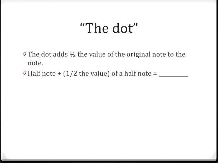 """The dot"""