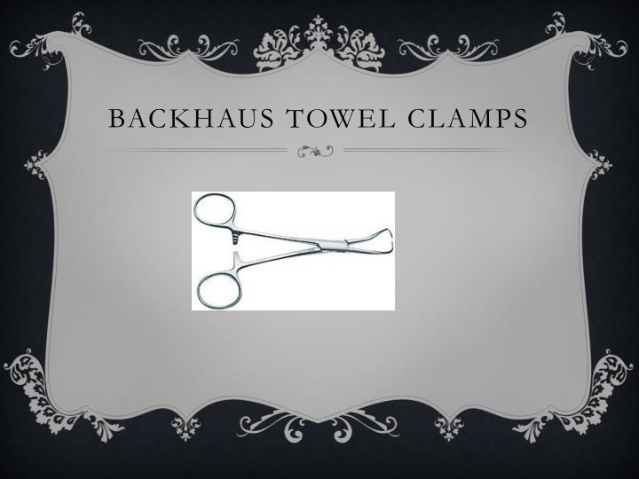 Backhaus towel clamps