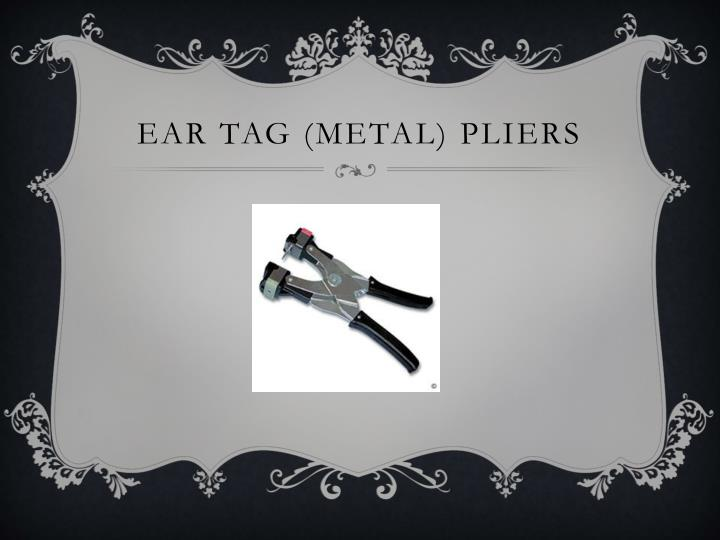 Ear tag (metal)
