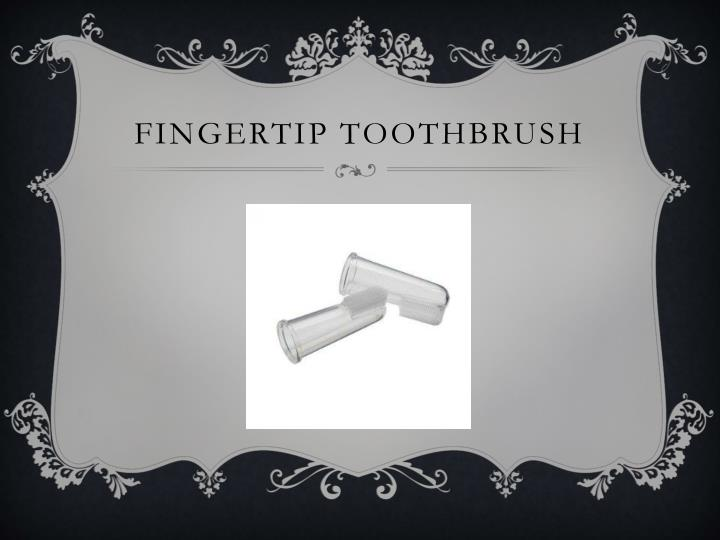 Fingertip toothbrush