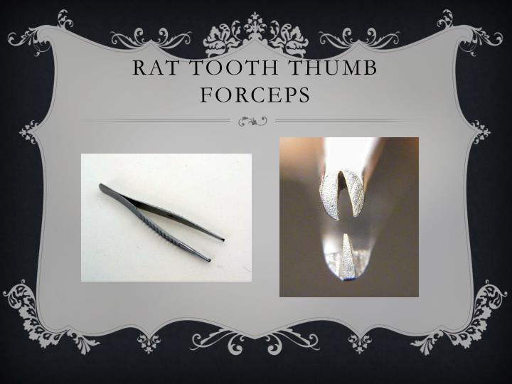 Rat tooth thumb forceps